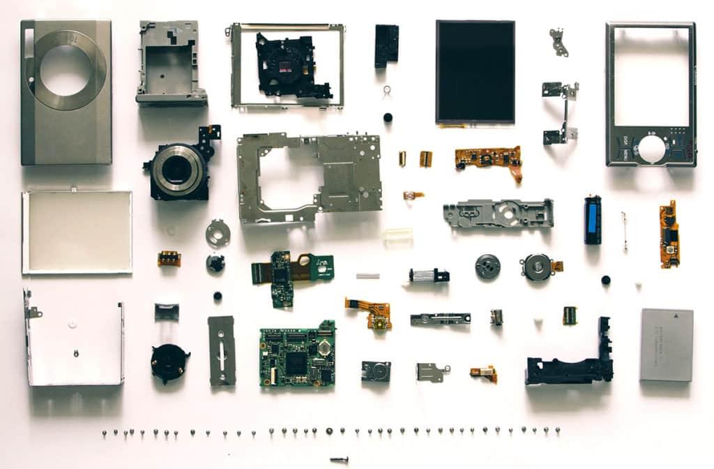 Appareil photo en pièces détachées